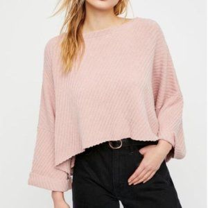 Free People I Can't Wait Oversize Crop Sweater - S